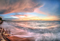 在Fannie海湾,北方领土,澳大利亚的海景 库存照片