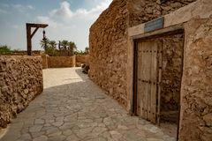在Farasan海岛上的Herritage村庄在吉赞省,沙特阿拉伯 库存图片