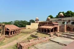 在Fatehpur Sikri复杂的Hathi政客和Burj 免版税库存照片