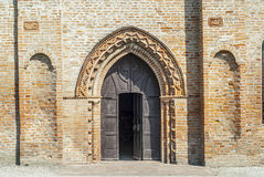 在Felonica附近的古老教会 库存照片