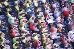 在Fenway公园的人群 免版税图库摄影