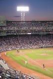 在Fenway公园的晚上棒球 免版税库存图片
