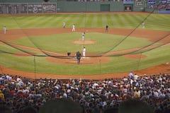 在Fenway公园的棒球 图库摄影