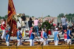 在Festa della Sensa,威尼斯的花圈 库存照片