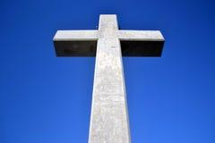 在Filerimos登上,罗得岛,希腊的十字架 免版税图库摄影