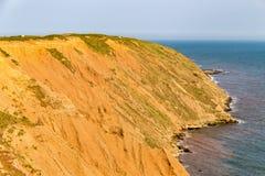 在Filey布里格,英国的约克夏海岸 图库摄影