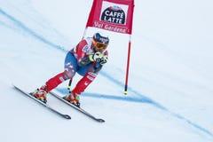 在FIS高山滑雪世界杯-第3个人的SUPER-G的GANONG特拉维斯 库存图片