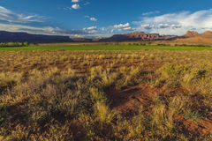 在Fisher Mesa的日落 免版税库存图片