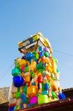 在Flacon设计工厂的街道艺术在莫斯科,俄罗斯 免版税库存照片