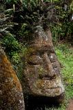 在Floreana海岛上的石雕塑  免版税库存图片