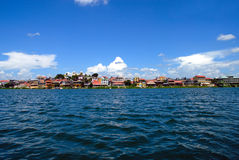 在flores危地马拉湖附近 库存照片