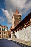 在Florianska门附近的Pijarska街道 老镇克拉科夫 免版税库存图片