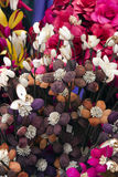 在flowersl中的模型在花瓶 免版税图库摄影