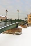 在Fontanka的Krasnoarmeisky桥梁 免版税图库摄影