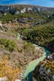 在Frace南部的峡谷维登 图库摄影