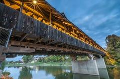 在Frankenmuth密执安的被遮盖的桥 免版税库存图片