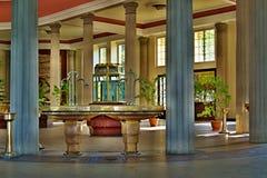 在Franzensbad的内部建筑学在捷克 库存图片