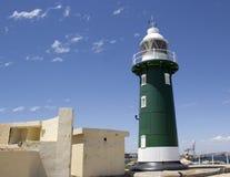 在Fremantle西澳州的老绿色灯塔 图库摄影
