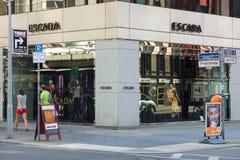 在Friedrichstrasse的Escada精品店 库存图片
