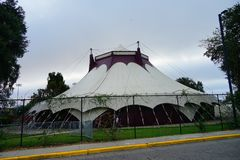 在FSU的一个大帐篷 免版税库存照片