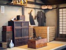 在Fukugawa伊多博物馆,东京,日本的古老人工制品 库存照片