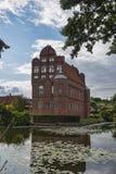 在Funen的Hesselager城堡 免版税图库摄影