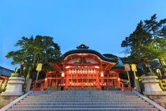 在Fushimi Inari-taisha寺庙的寺庙在京都 库存照片
