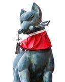 在Fushimi Inari-taisha寺庙的Kitsune雕塑在京都 库存图片