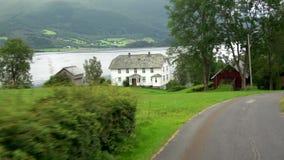 在Fv182的驱动,Moere og Romsdal,挪威 股票录像