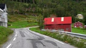 在Fv182的驱动,Moere og Romsdal,挪威 影视素材