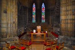在G的格拉斯哥大教堂或高柯克的里面小讲说术 库存图片
