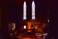 在G的格拉斯哥大教堂或高柯克的里面小讲说术 免版税库存照片