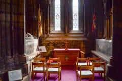 在G的格拉斯哥大教堂或高柯克的里面小讲说术 免版税图库摄影