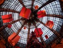 在Galeries拉斐特的圣诞节 免版税库存照片