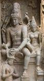 在Gangaikunda寺庙的Chandesanugraha murti 免版税库存照片