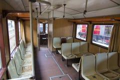 在Gara de Nord的火车陈列 库存照片