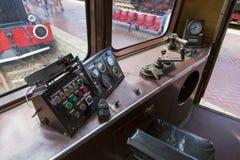 在Gara de Nord的火车陈列 免版税库存照片