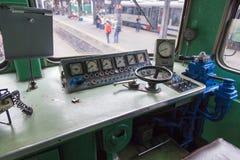 在Gara de Nord的火车陈列 免版税图库摄影