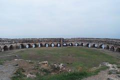 在Garipce村庄的古老墙壁,在伊斯坦布尔附近 库存图片