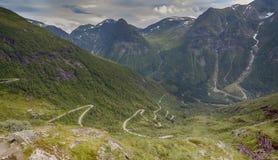 在Gaularfjellet的utsigten 库存照片