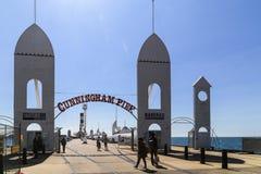 在geelong,澳大利亚的坎宁安码头 免版税库存图片