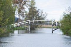 在Gein河阿布考德之间的桥梁荷兰 库存图片