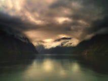 在Geiranger海湾的看法在挪威 库存图片