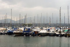 在Geneva湖的系泊 库存图片