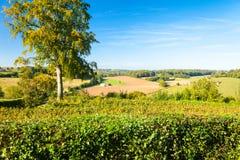 在gerberoy法国附近的乡下 免版税库存照片