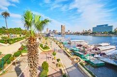 在Gezira海岛,开罗,埃及上的公园 库存照片