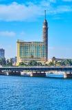 在Gezira海岛,开罗,埃及上的塔 免版税库存图片
