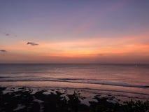 在Gili Trawangan海岛的日落 免版税库存图片