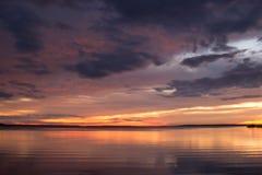 在Gippsland湖的晚上 免版税库存图片