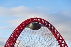 在Givopisny桥梁的顶部的曲拱。 免版税图库摄影